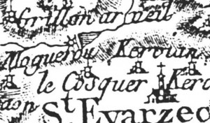 Carte de Cassini de 1750