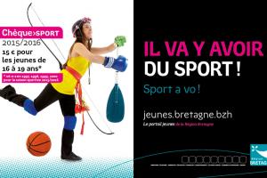 Affiche cheque sport