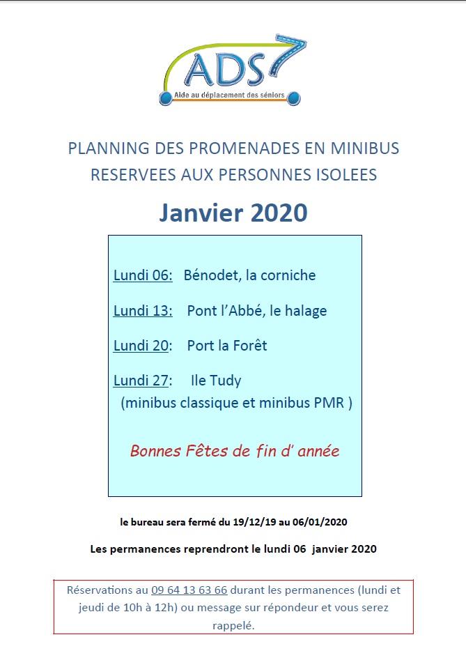Sorties Janvier 2020 – Seniors