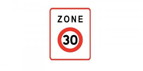 Panneau zone 30 au bourg