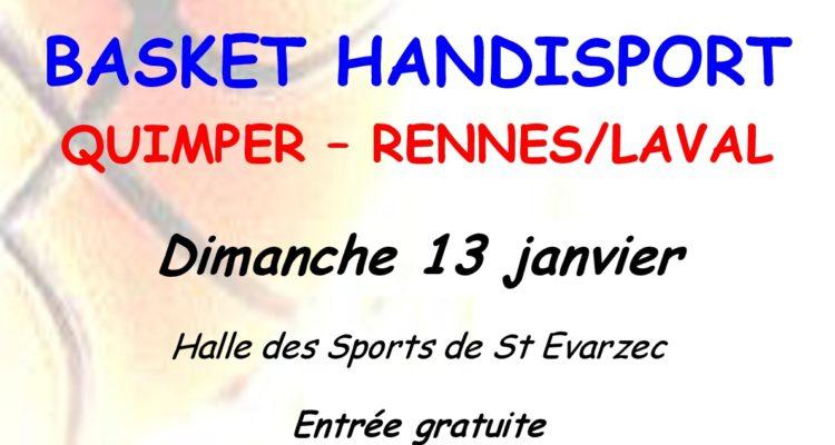 affiche match Basket QUIMPER vs RENNES-LAVAL