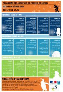 Programmation VACANCES DE FEVRIER 2020 – 24-28