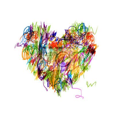 colorful-forme-de-coeur-dessin-au-crayon-pour-votre-conception-400-36438370